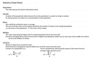 CheatSheet-Statistics